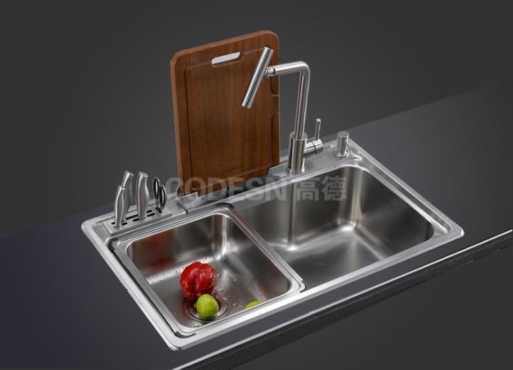 刚买回来的厨房不锈钢水槽要怎么样装修呢?