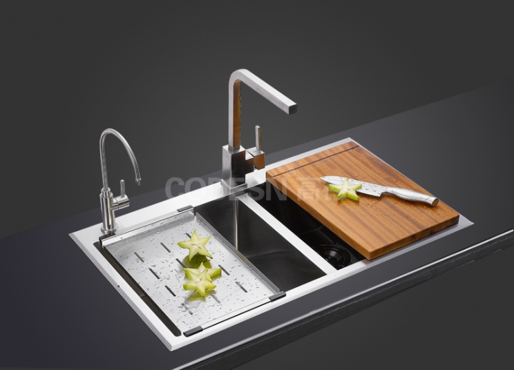 学会这些水槽清洁技巧,保证清洁卫生不堵塞~。